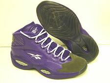 NEW Mens REEBOK Question Mid PE Purple SAMPLE AI IVERSON Sneakers Shoes Rare DS