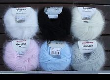 100% Angora rabbit yarn soft & fluffy 10g ball 6 colors