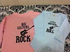 BIG SISTERS ROCK -LITTLE BROTHER ROLL - SET OF 2 SHIRT BODYSUIT- LONG SLEEVED