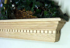 "OAK DENTIL WOODEN FIREPLACE MANTEL MANTLE SHELF 48"" 4' 54"" 4.5' 60"" 5'"