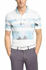 HUGO BOSS Mens Paule 6 Blue White Striped Short Sleeve Cotton Basic Polo T-Shirt