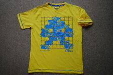 JOYSTICK JUNKIES 8 BIT INVADER YELLOW YOUTH CHILD T SHIRT BNWT OFFICIAL GAME