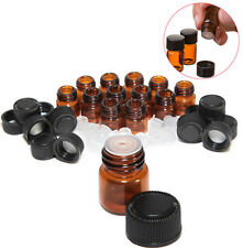 12pc 1/2 ml Amber Essential Oil Bottle with Orifice Reducer and cap
