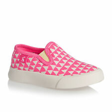 Joules Trainers - Joules Girls Slip On Pump Trainers - Neon Pink
