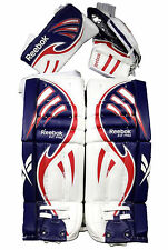 "Reebok Larceny Pro hockey goalie 30"" + 1 pads glove blocker regular int new set"