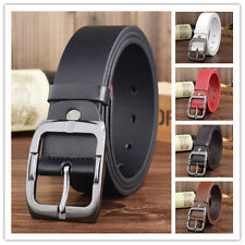 2017 New Arrival Men Artificial Leather Belt High Quality Pin Buckle Strap Belts