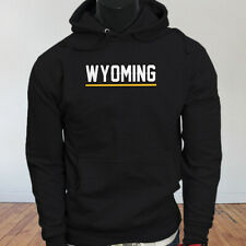 State City Travel Tourist Tour Wyoming Vacation Proud Mens Black Hoodie