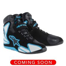 Alpinestars `15 Fastback Waterproof Motorcycle Riding Shoes-See Sizes-Black/Blue