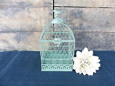 Distressed Antique Green Chicken Wire Bird Cage Decor Candle Holder CHOOSE SIZE