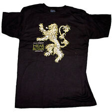 NEW Game of Thrones - Lannister House Hear Me Roar Lion - Male Black Tee T-Shirt