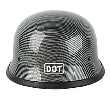 DOT Motorcycle German World War II Retro Style Half Face Helmet Cruiser Safe