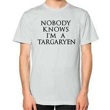 NOBODY KNOWS I'M A TARGARYEN Shirt, American Apparel Unisex Funny Thrones Parody