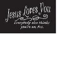 Jesus Loves You, Everyone else....Tshirt   Sizes/Colors