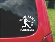 Set Baseballl Decals with custom text Fundraising 20 Colors To Choose From