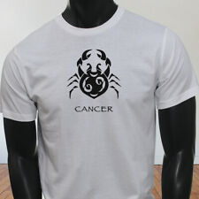 Water Moon Ruby Zodiac Cancer Black Crab Astrological Sign Mens White T-Shirt