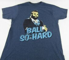 Mens NEW Mr. T Ball So Hard Navy Blue Short Sleeve T-Shirt Size M L Medium Large