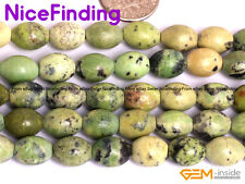 Green Olivary African Turquoise Stone Beads For Jewelry Making Beads Lot 15''DIY