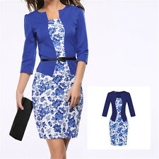 Womens Office Lady Formal Business Work Evening Party Sheath Tunic Pencil Dress