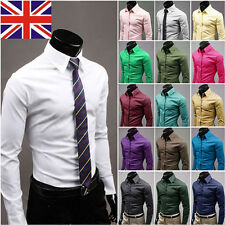 New Fashion Luxury Mens Formal Casual Suits Slim Fit Dress Shirts 3 Colours