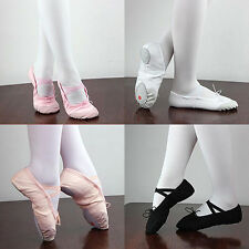 Child Adult Canvas Soft Ballet Dance Shoes Perfect Pointe Gymnastics Slipper