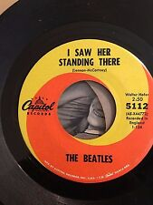 BEATLES 45 I WANT TO HOLD YOUR HAND WITH SLEEVE  SWIRL CAPITOL 5112