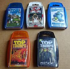 MULTI-LIST SELECTION OF TOP TRUMPS SEALED SETS; RUGBY, DISNEY MONSTERS, GI JOE