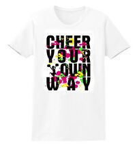 """""""Cheer Your Own Way"""" Cheerleading Spirit Wear T-Shirt Childs XS to Youth XL_"""
