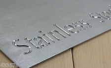 2 Kg's Stainless Steel Sheet Plate Offcuts Brushed Stainless Steel Pieces