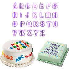 40Pcs Alphabet Letter Cookie Cutters Cake Molds Sugarcraft Chocolate Moulds B20E