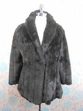 Vintage Ladies Short Dark Brown Marno Mink Faux Fur Jacket Coat Goodwood 10/12