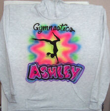 GYMNASTICS HOODIE HOODED SWEATSHIRT YOUTH AND ADULT SIZES NEW PERSONALIZED