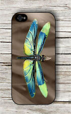 DRAGONFLY BLUE YELLOW WINGS CASE FOR iPHONE 4 5 5C 6 -c3t4f