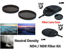 F270 67mm Neutral Density ND4 ND8 Filter Kit & Case for CAMCORDER CAMERA LENS