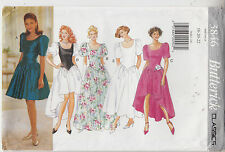 Butterick 3846 Dress Evening Bridal Party 3 Lengths Variations Sewing Pattern
