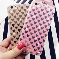 Crystal Thin Clear Glitter Bling Silicone Rubber Case Cover for Apple iPhone6 6s