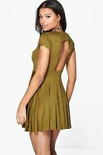 Boohoo Womens Valerie Cut Out Back Skater Dress
