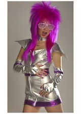 Ladies Silver 70's Chick Glam Rock Costume