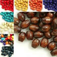 690PCS Wholesale New DIY Dyed Wood Rice Wooden Beads 6x4mm Free Ship 9 Colors
