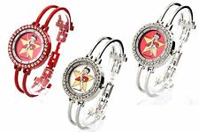 BETTY BOOP Authentic Round Face Crystal Bezel Bangle Bracelet Watch