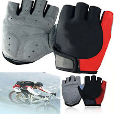 Antiskid Bike Racing Cycling Half Finger Fingerless Silicone Glove Multi-Color