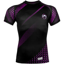 Venum Rapid Compression Short Sleeve Rashguard - Black/Purple