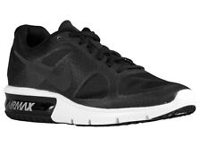 NEW MENS NIKE AIR MAX SEQUENT RUNNING SHOES TRAINERS BLACK / WOLF GREY / WHITE