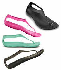 New Womens Crocs Sexi Flip Full Slip On Lightweight Toepost Comfort Sandals