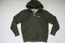 *BARBOUR* WARM HOODED TOP HOODIE DARK MILITARY GREEN L LARGE