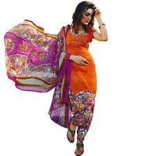 Ready To Wear French Crepe Printed Salwar Kameez Suit Indian Dress-Milly-3009