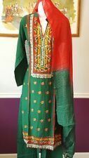 PAKISTANI INDIAN SHALWAR KAMEEZ GUL AHMED EMBROIDERED LINEN DESIGNER DRESS