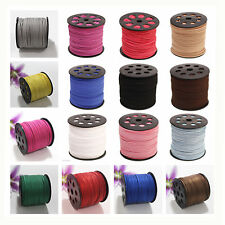 3mm Width Sequins Faux Suede Leather Thong Jewelry Necklace Bracelet DIY Cord