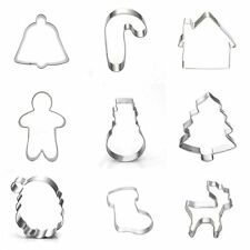 STAINLESS STEEL CHRISTMAS XMAS TREE BISCUIT PASTRY CAKE COOKIE CUTTER MOULD GIFT