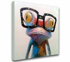 NO Framed! MODERN ABSTRACT LARGE WALL ART OIL PAINTING ON CANVAS: frog
