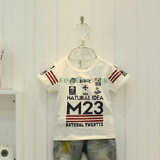 Fashion Korean Kids Toddlers Boys Letter Skull Modal Cotton Tee Tops T-Shirt New